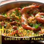 lorraine pascale hearty paella with chorizo