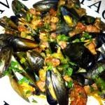 chorizo and mussels