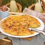 pea and yorkshire chorizo tortilla