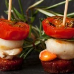 Yorkshire Chorizo and scallop with roast tomato